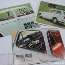 Coches y Motocicletas: CATALOGO COCHES SEAT 850 ESPECIAL Y SEAT 124 5 PUERTAS, MIDEN 28,5 X 20,5 CMS. AÑO 1970 APROX.. Lote 140360430
