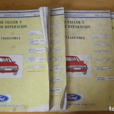 Coches y Motocicletas: MANUAL TALLER GUÍA TASACIONES FORD ESCORT 1982 4 TOMOS REPARACIÓN AUTOMÓVIL COCHE. Lote 140474518