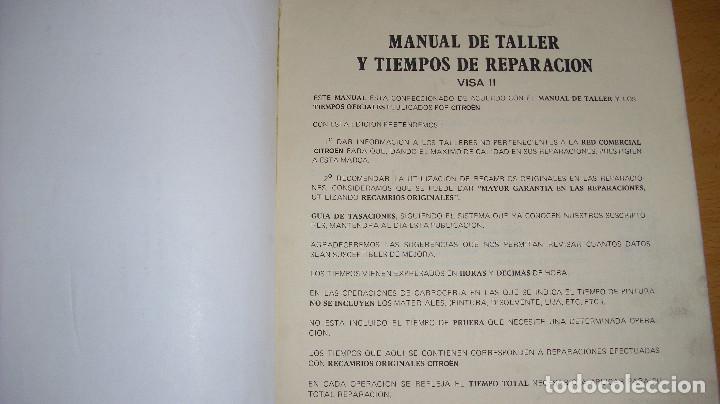 Coches y Motocicletas: MANUAL TALLER GUÍA TASACIONES CITROEN VISA 1984 2 TOMOS REPARACIÓN AUTOMÓVIL COCHE - Foto 3 - 140497238