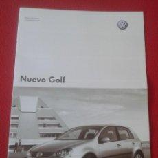 Coches y Motocicletas: GUÍA LIBRO CATÁLOGO O SIMIL VOLKSWAGEN NUEVO GOLF 2004 COCHE CAR AUTOMÓVIL AUTO DATOS TÉCNICOS Y EQU. Lote 140497482