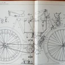Voitures et Motocyclettes: PATENTE MOTO, MOTOCICLETA, CICLOMOTOR 1900. Lote 140718813