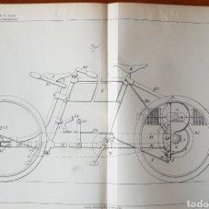 Coches y Motocicletas: PATENTE MOTO, MOTOCICLETA, CICLOMOTOR 1895, CYCLES GLADIATOR. Lote 140720325