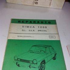Coches y Motocicletas: MANUAL REPARAUTO ATIKA 51-52 SIMCA 1200. Lote 141127009