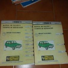 Coches y Motocicletas: MANUAL DE TALLER Y TIEMPOS REPARACION RENAULT 6. Lote 141133530