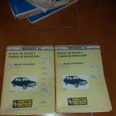 Coches y Motocicletas: MANUAL DE TALLER Y TIEMPOS REPARACION RENAULT 12. Lote 141133629