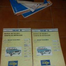 Coches y Motocicletas: MANUAL DE TALLER Y TIEMPOS REPARACION SEAT 131. Lote 141133729