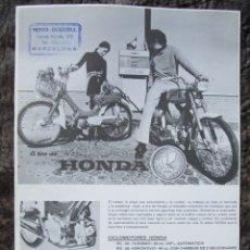 Coches y Motocicletas: HOJA PUBLICIDAD ORIGINAL DE CICLOMOTORES HONDA PC 50 PS 50 SERVETA INDUSTRIAL S.A.. Lote 26895542