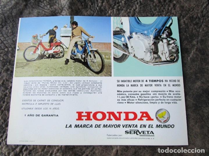Coches y Motocicletas: catalogo original honda ciclomotores pc 50 y ps 50 dos paginas serveta - Foto 2 - 162356933