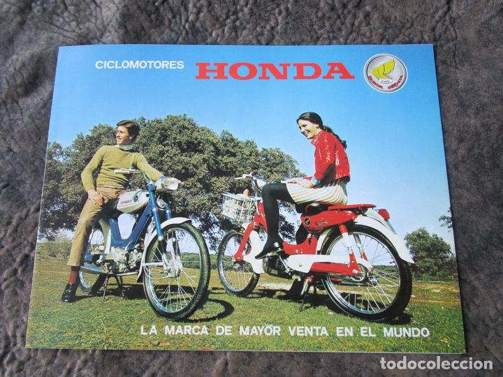 CATALOGO ORIGINAL HONDA CICLOMOTORES PC 50 Y PS 50 DOS PAGINAS SERVETA (Coches y Motocicletas Antiguas y Clásicas - Catálogos, Publicidad y Libros de mecánica)