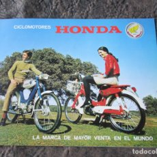 Coches y Motocicletas: CATALOGO ORIGINAL HONDA CICLOMOTORES PC 50 Y PS 50 DOS PAGINAS SERVETA. Lote 162356933