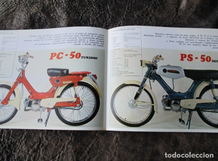 Coches y Motocicletas: catalogo original honda ciclomotores pc 50 y ps 50 dos paginas serveta - Foto 3 - 162356933