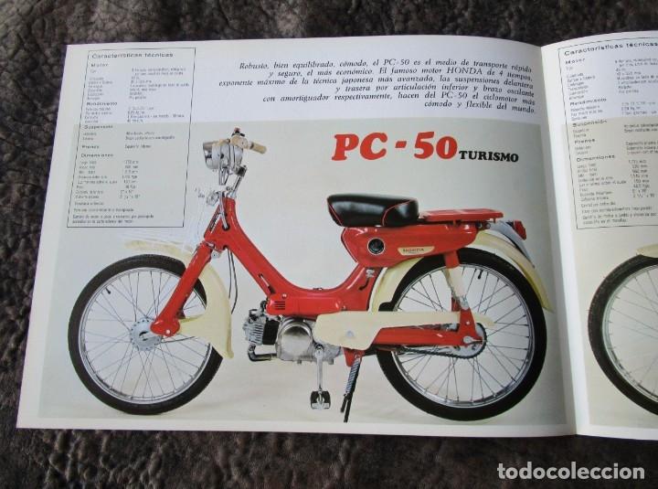 Coches y Motocicletas: catalogo original honda ciclomotores pc 50 y ps 50 dos paginas serveta - Foto 4 - 162356933