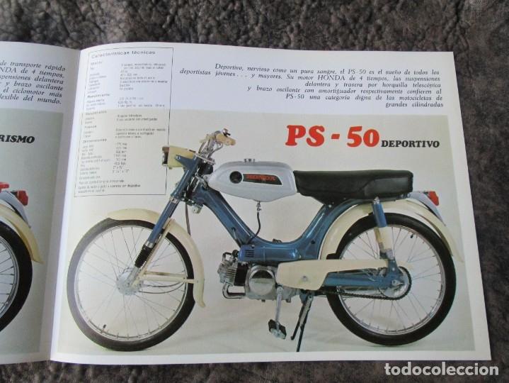 Coches y Motocicletas: catalogo original honda ciclomotores pc 50 y ps 50 dos paginas serveta - Foto 5 - 162356933