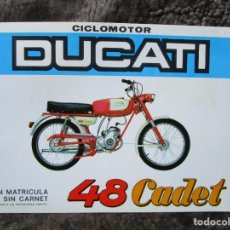 Coches y Motocicletas: CATALOGO ORIGINAL CICLOMOTOR DUCATI 48 CADET MOTOTRANS. Lote 55637864