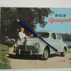 Coches y Motocicletas: CATÁLOGO PUBLICITARIO PEUGEOT 203 AÑO 1959. Lote 141142698