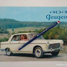 Coches y Motocicletas: CATALOGO PEUGEOT 404 EN INGLÉS. Lote 141226066