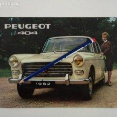 Coches y Motocicletas: CATÁLOGO FOLLETO PEUGEOT 404 DE 1962 EN INGLÉS.. Lote 141235126