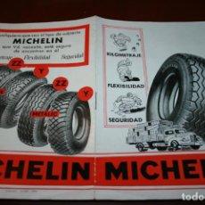 Coches y Motocicletas - catalogo ruedas michelin año 1954. 8 páginas. mide 21 x 13,5 - 141343482