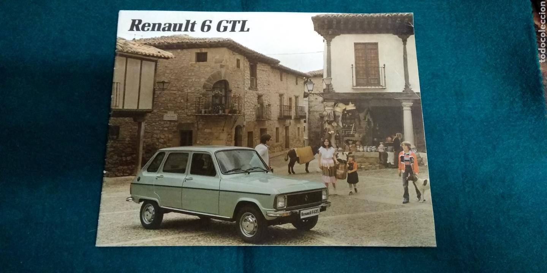 FOLLETO RENAULT 6 GTL (Coches y Motocicletas Antiguas y Clásicas - Catálogos, Publicidad y Libros de mecánica)
