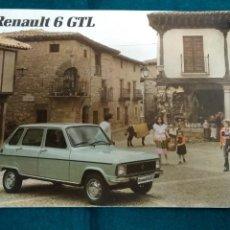 Coches y Motocicletas: FOLLETO RENAULT 6 GTL. Lote 141435232