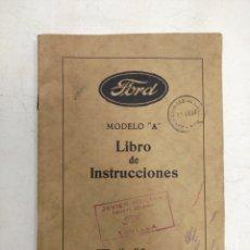 Coches y Motocicletas: FORD LIBRO DE INSTRUCCIONES MODELO A. Lote 141552376