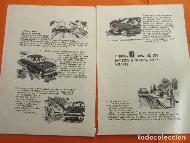 Coches y Motocicletas: 1967 CARTILLA PARA NOVATOS CONDUCTORES RECOMENDACIONES EXAMEN PRACTICO CON EL INGENIERO - Foto 2 - 141554238