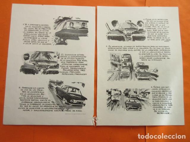 Coches y Motocicletas: 1967 CARTILLA PARA NOVATOS CONDUCTORES RECOMENDACIONES EXAMEN PRACTICO CON EL INGENIERO - Foto 3 - 141554238