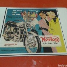 Coches y Motocicletas: FOTO - CARTEL MOTOCICLETAS NORTON, TAMAÑO 45 CM X 32 CM. Lote 141574488