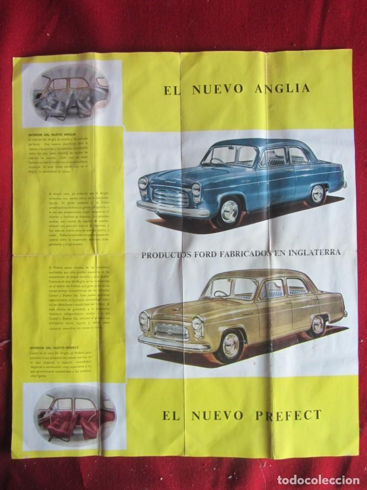 Coches y Motocicletas: CATÁLOGO PUBLICIDAD DESPLEGABLE FORD ANGLIA PERFECT - Foto 3 - 141730898