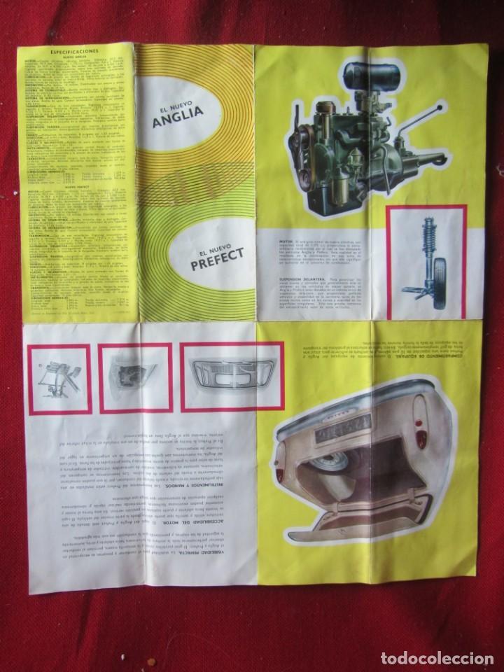 Coches y Motocicletas: CATÁLOGO PUBLICIDAD DESPLEGABLE FORD ANGLIA PERFECT - Foto 4 - 141730898