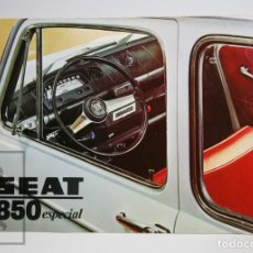 Coches y Motocicletas: FOLLETO DESPLEGABLE / CATÁLOGO PUBLICITARIO DE COCHE - SEAT 850 ESPECIAL - AÑO 1970. Lote 141768326