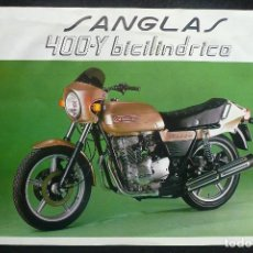 Coches y Motocicletas - MOTOCICLETA SANGLAS( 400-Y BICILINDRICA) -ANTIGUO FOLLETO/PUBLICIDAD - 142023450