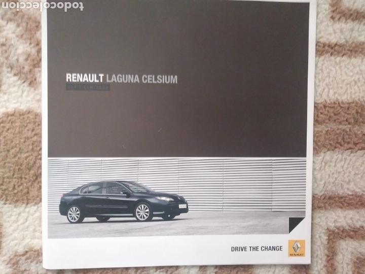 CATÁLOGO RENAULT LAGUNA CELSIUM (Coches y Motocicletas Antiguas y Clásicas - Catálogos, Publicidad y Libros de mecánica)