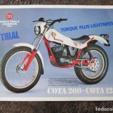Coches y Motocicletas: CATALOGO ORIGINAL MONTESA COTA 200 123 TRIAL Y 248. Lote 27448727