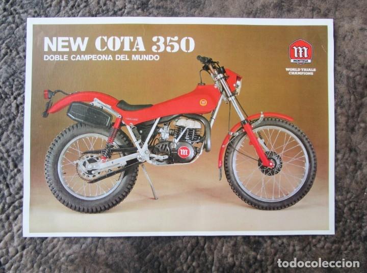 CATALOGO ORIGINAL MONTESA NEW COTA 350 (Coches y Motocicletas Antiguas y Clásicas - Catálogos, Publicidad y Libros de mecánica)