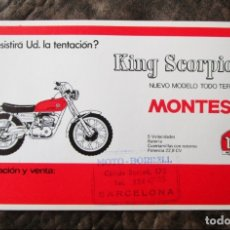 Coches y Motocicletas: PROSPECTO PUBLICIDAD ORIGINAL MONTESA KING SCORPION. Lote 43549661
