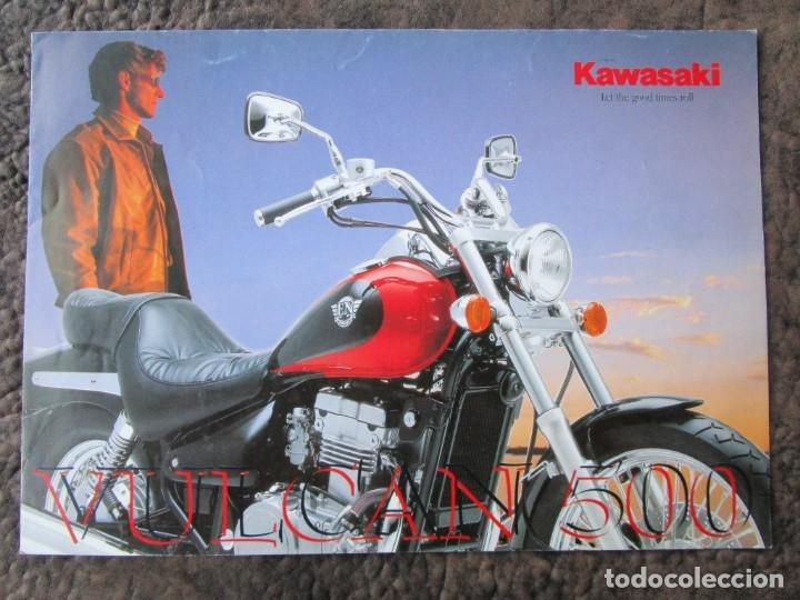 CATALOGO ORIGINAL KAWASAKI VULCAN 500 (Coches y Motocicletas Antiguas y Clásicas - Catálogos, Publicidad y Libros de mecánica)
