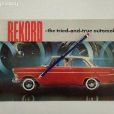 Autos und Motorräder - Catalogo folleto Opel Rekord años 50 General Motors, en inglés - 142216266