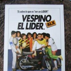 Coches y Motocicletas: HOJA DE PUBLICIDAD ORIGINAL DE VESPINO ALX VESPA. Lote 26902573