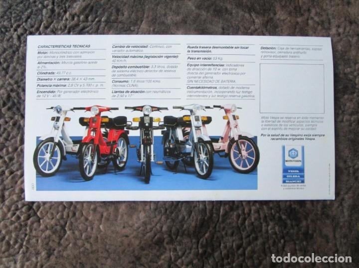Coches y Motocicletas: triptico original grande vespino alx lider catalogo vespino vespa - Foto 3 - 173676289