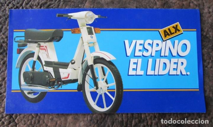 TRIPTICO ORIGINAL GRANDE VESPINO ALX LIDER CATALOGO VESPINO VESPA (Coches y Motocicletas Antiguas y Clásicas - Catálogos, Publicidad y Libros de mecánica)