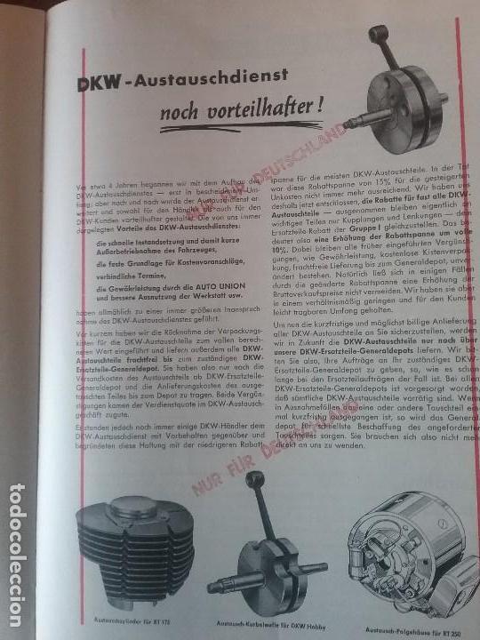 Coches y Motocicletas: DKW RT 350 , manual original. - Foto 5 - 142359326