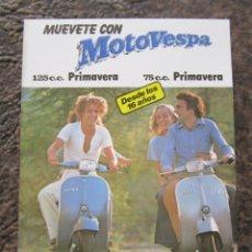 Automobili e Motociclette: CATALOGO ORIGINAL DE VESPA PRIMAVERA 125 C.C Y 75 C.C. Lote 142364678