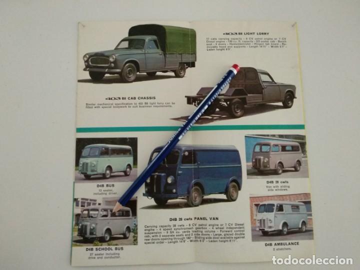 Coches y Motocicletas: Catalogo folleto publicitario desplegable Peugeot 1964 - Foto 2 - 142459254