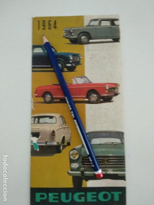 CATALOGO FOLLETO PUBLICITARIO DESPLEGABLE PEUGEOT 1964 (Coches y Motocicletas Antiguas y Clásicas - Catálogos, Publicidad y Libros de mecánica)
