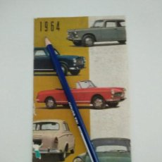 Coches y Motocicletas: CATALOGO FOLLETO PUBLICITARIO DESPLEGABLE PEUGEOT 1964. Lote 142459254