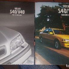 Coches y Motocicletas: VOLVO S40/V40, PROGRAMAS DESPLEGABLES DEL AÑO 2000. Lote 142623482