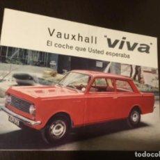 Coches y Motocicletas: ANTIGUO CATÁLOGO COCHE VAUXHALL VIVA TOTALMENTE ORIGINAL. Lote 142629758