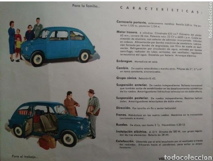 Coches y Motocicletas: Catálogo Seat 600 de 1957 - Foto 2 - 142667973
