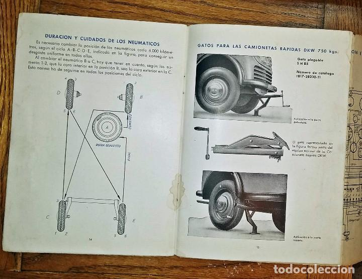 Coches y Motocicletas: MANUAL INSTRUCCIONES DKW 4 VELOCIDADES CIRCA 1950'S - Foto 4 - 142686290